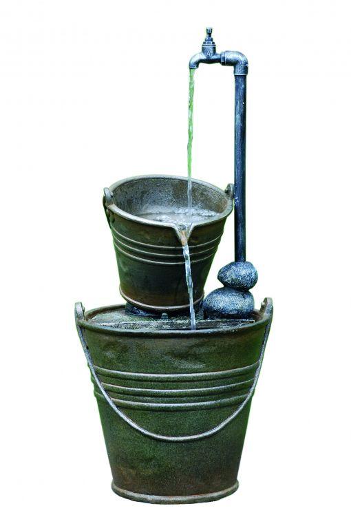 Mooie 2 Tin Buckets with Tap kopen