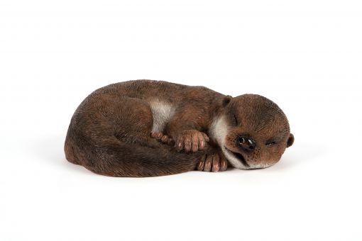 Mooie slapende baby Otter tuinbeeld kopen