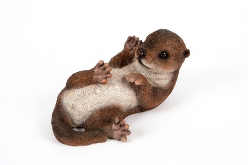 Mooie spelende baby Otter tuinbeeld kopen