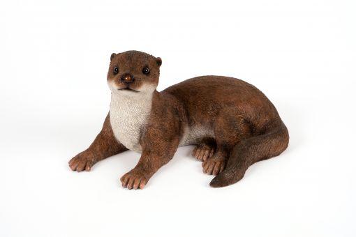 Mooie zittende  Otter tuinbeeld kopen