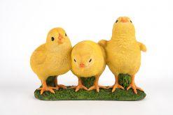 Mooie drie kuikens tuinbeeld kopen