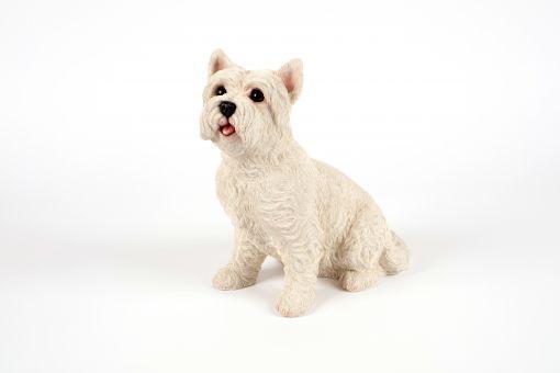 Mooie zittende  West Higland Terrier tuinbeeld kopen