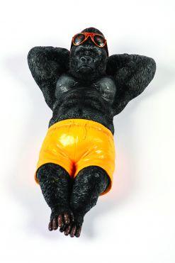 Mooie zonnende  Gorilla tuinbeeld kopen