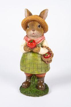 Mooie Tomaten plukkende  Meisjeskonijn tuinbeeld kopen